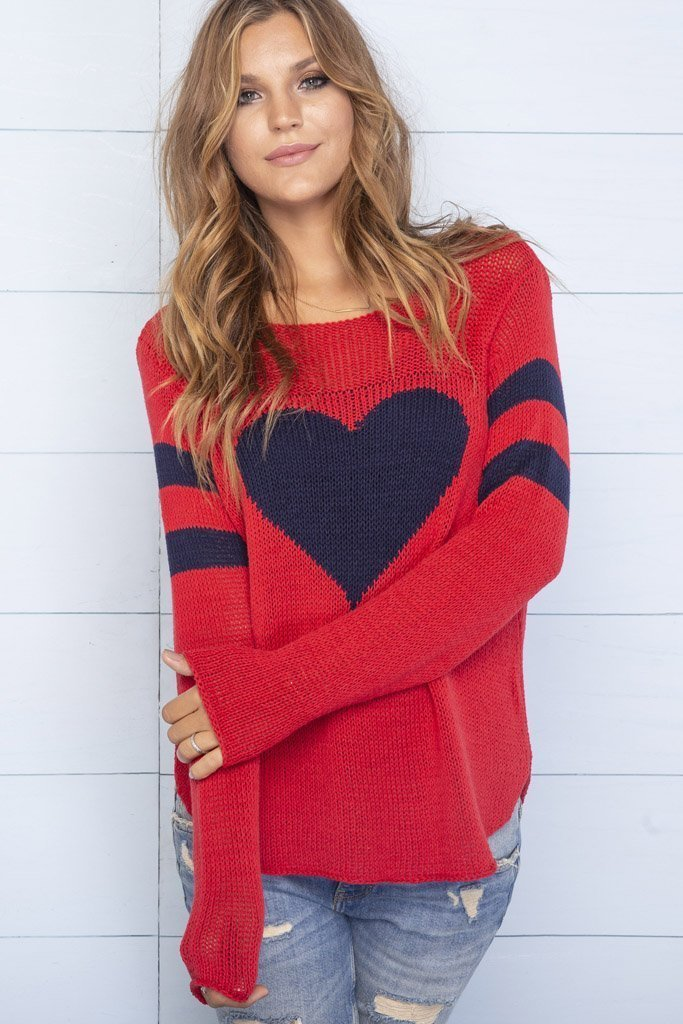 Women's Brady Heart Crewneck Sweater's | Wooden Ships Knits