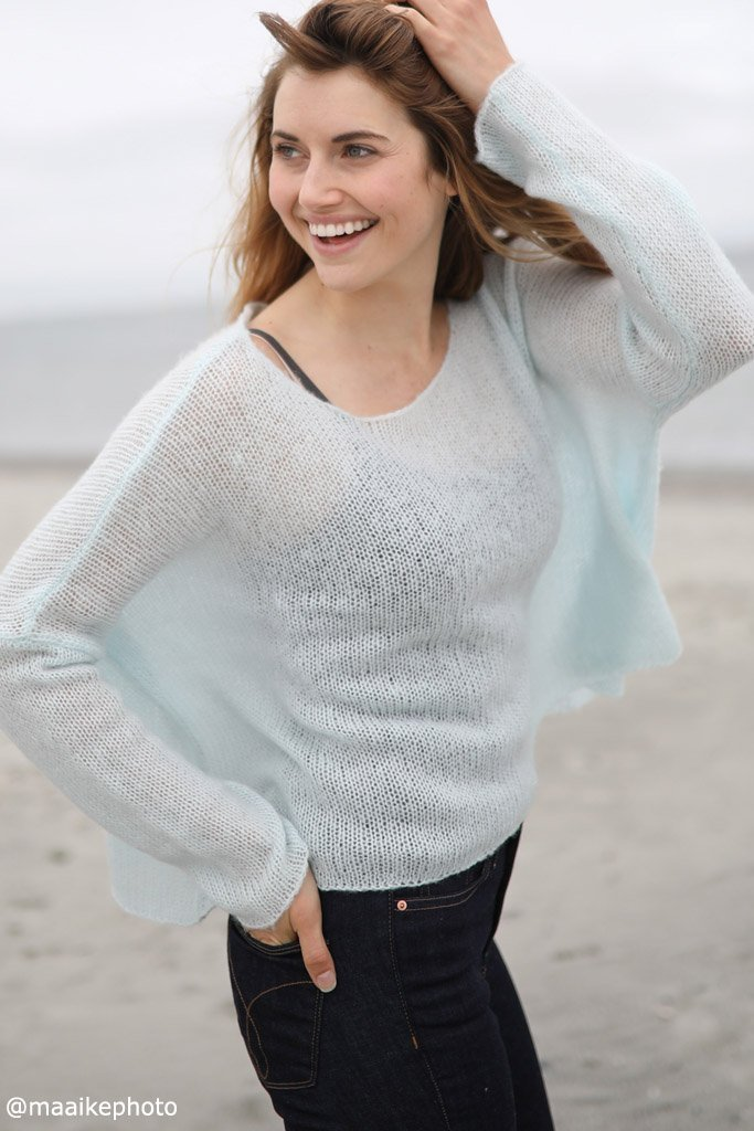 Women's Cropped Boyfriend Lightweight Sweater's | Wooden Ships Knits