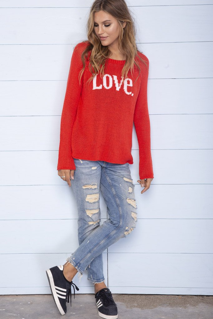 Women's Love Raglan Cotton Sweater's | Wooden Ships Knits