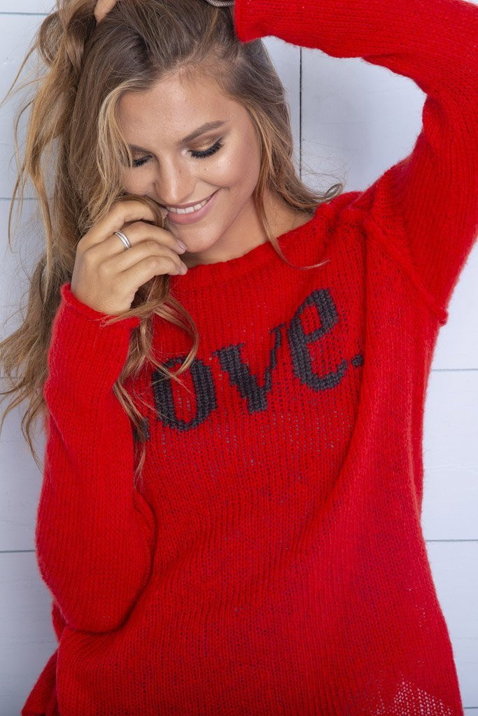 Women's Love Raglan Lightweight Crewneck Sweater's | Wooden Ships Knits