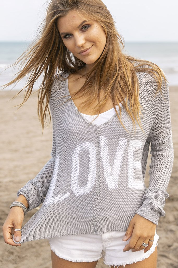 Women's Slouchy Love V-Neck Cotton Sweater's | Wooden Ships Knits