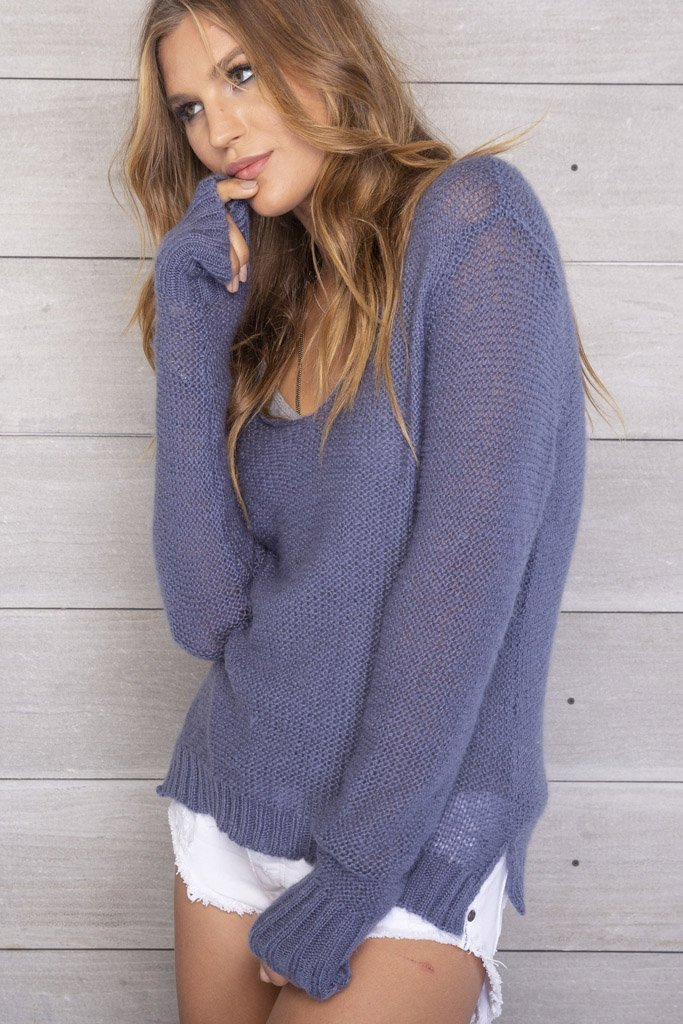 Women's Webb V-Neck Sweater's | Wooden Ships Knits