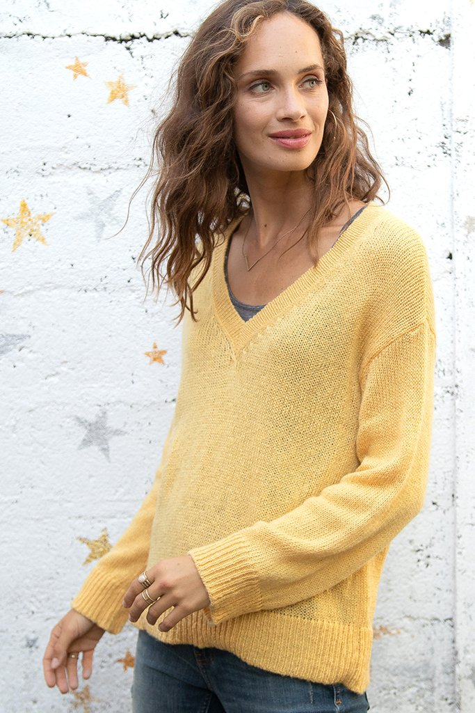 Women's Sophie V Lightweight Sweater's | Wooden Ships Knits
