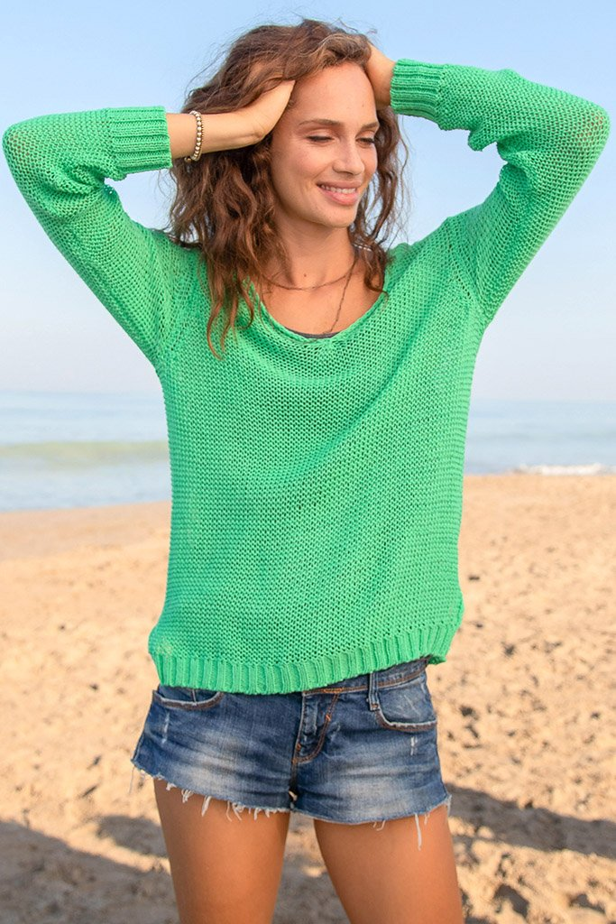 Women's Webb V Cotton Sweater's | Wooden Ships Knits