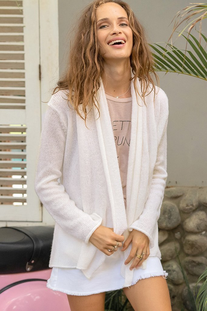 Women's Wrap Cardigan Lightweight Sweater's | Wooden Ships Knits