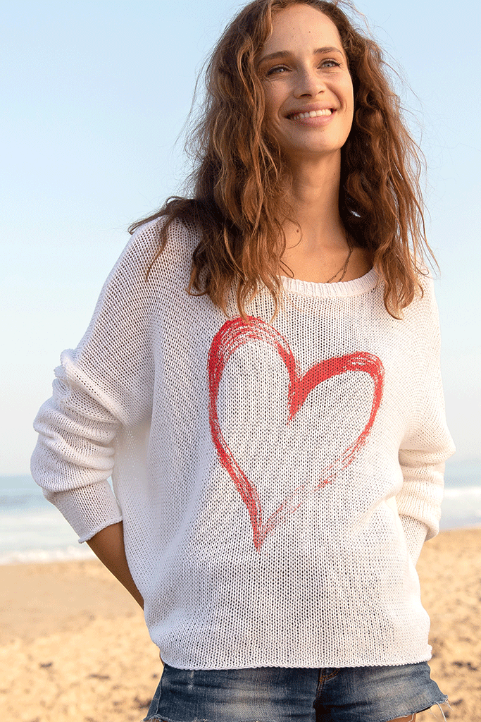 Women's Amore Crew Cotton Sweater's | Wooden Ships Knits