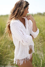 Load image into Gallery viewer, BAY FRINGE CARDI COTTON