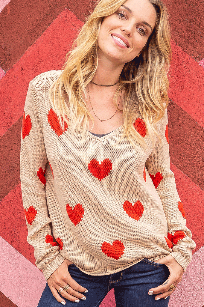 Women's Besotted V Cotton Sweater's | Wooden Ships Knits