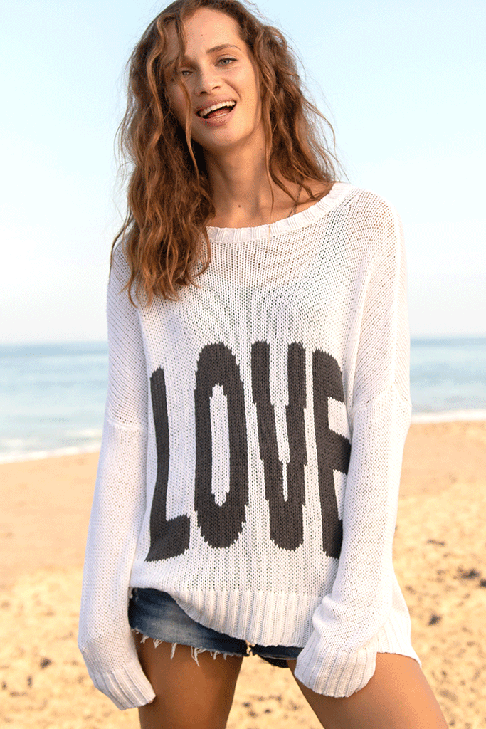 Women's Boyfriend Love Crew Cotton Sweater's | Wooden Ships Knits