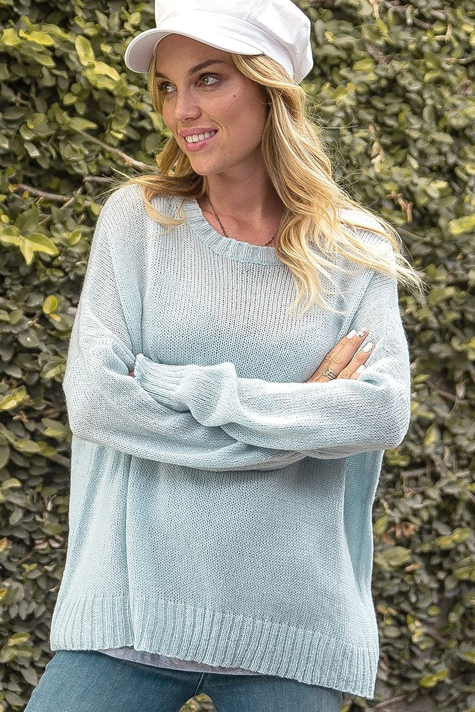 Women's Boyfriend Crew Lightweight Sweater's | Wooden Ships Knits
