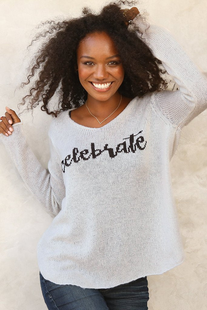 Women's Celebrate V Lightweight Sweater's | Wooden Ships Knits
