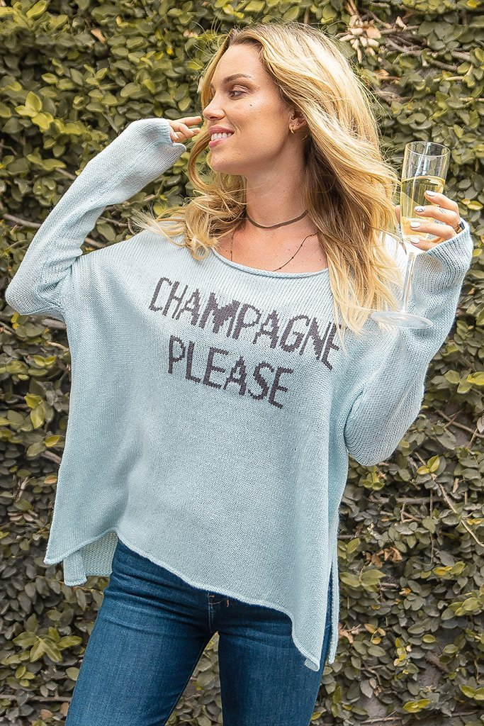 Women's Champagne Please Lightweight Sweater's | Wooden Ships Knits