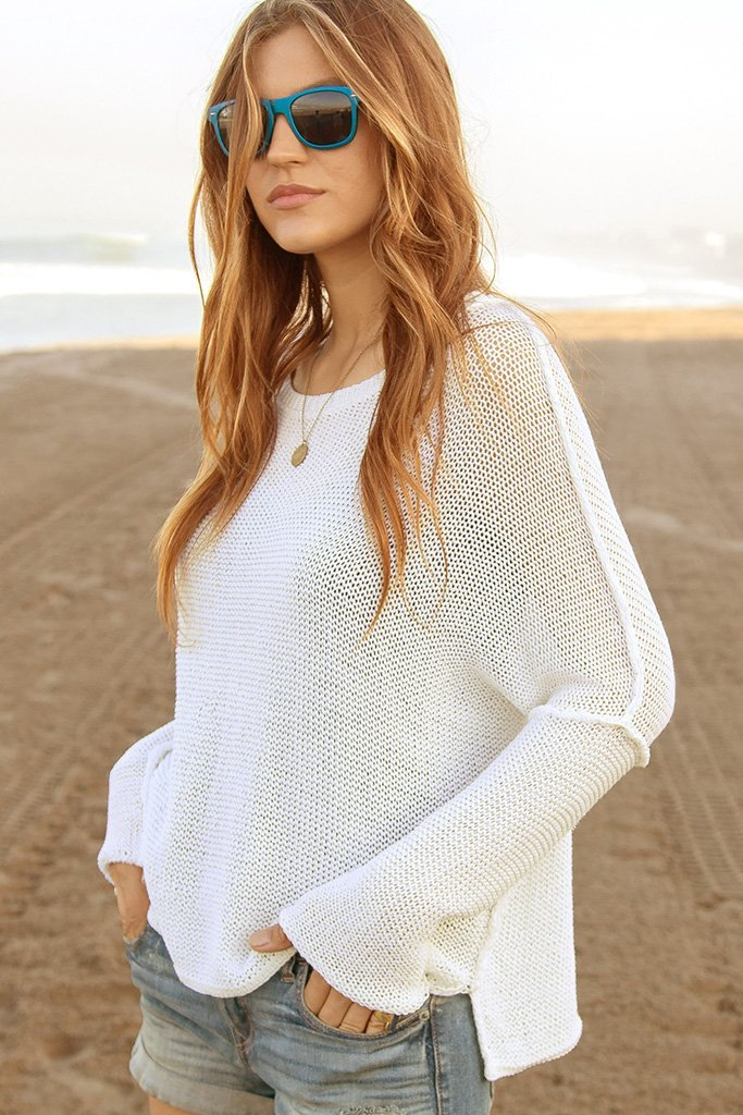 Women's Charlotte Crew Cotton Sweater's | Wooden Ships Knits