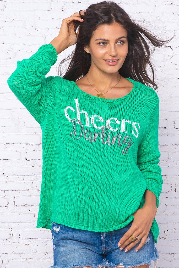 Women's Cheers Crew Cotton Sweater's | Wooden Ships Knits