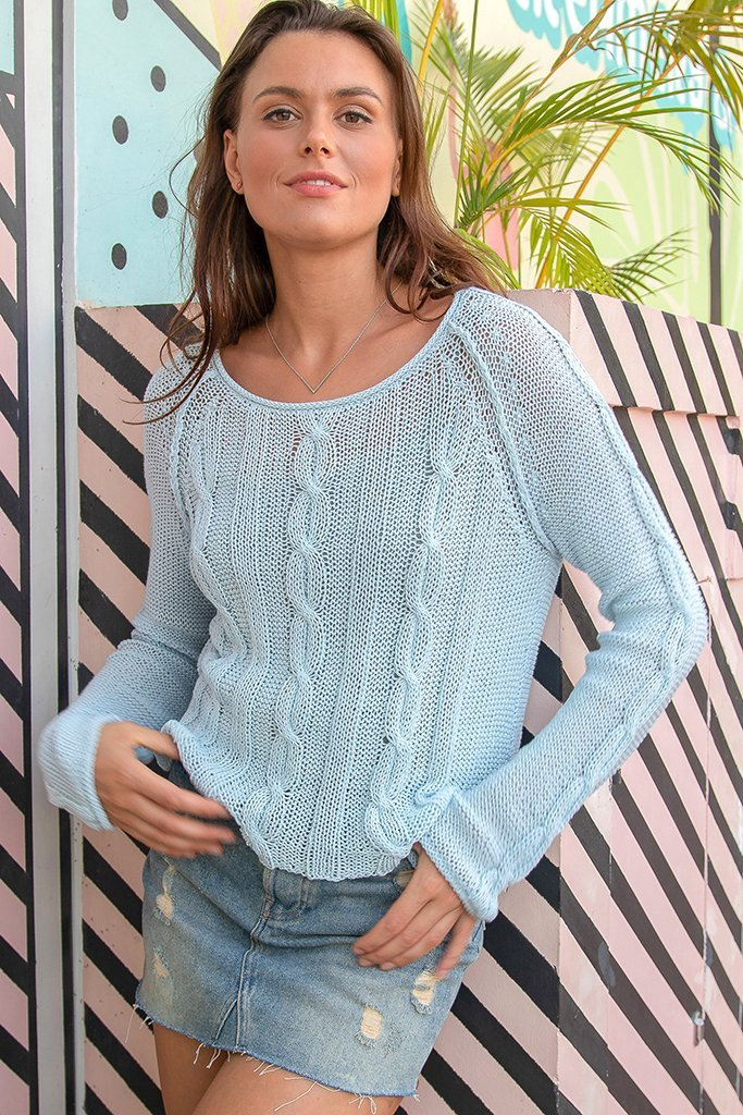 Women's Cropped Jax Cotton Sweater's | Wooden Ships Knits