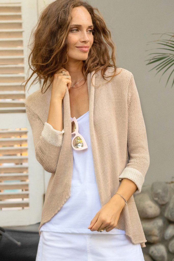 Women's Cuffed Blazer Cotton Sweater's | Wooden Ships Knits