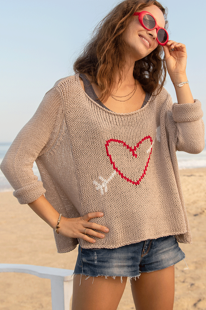 Women's Cupid Crew Cotton Sweater's | Wooden Ships Knits