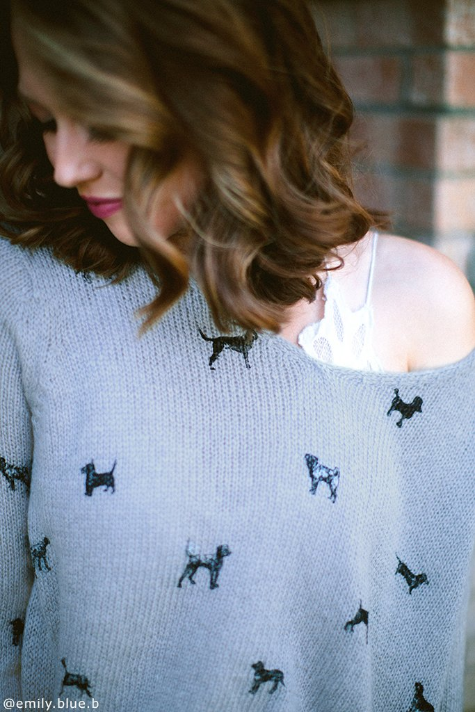 Women's Mini Dogs V Sweater's | Wooden Ships Knits
