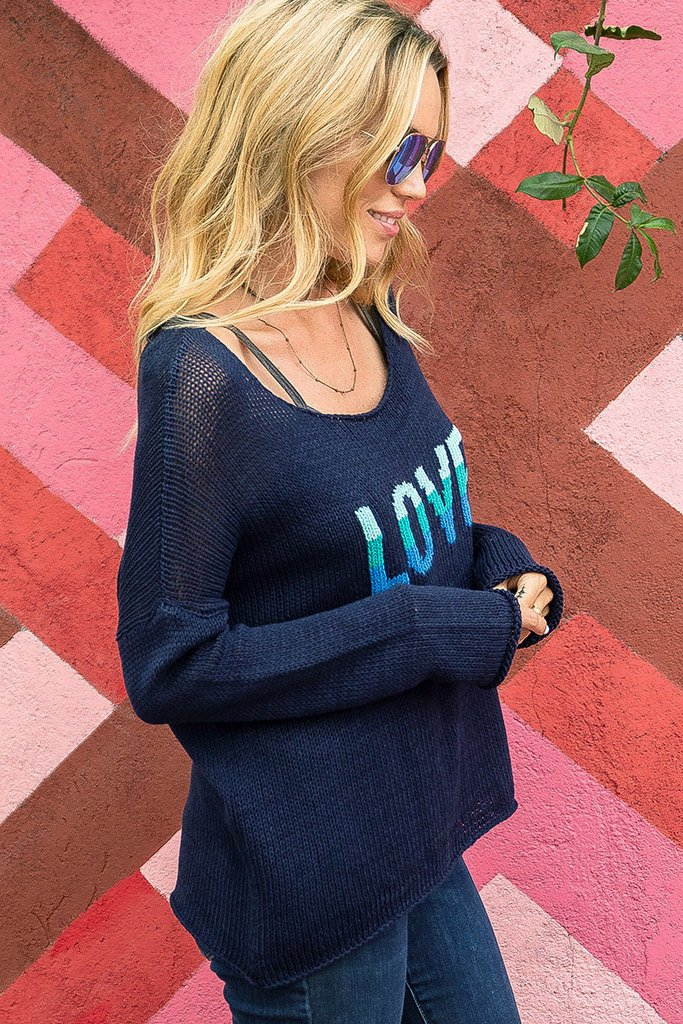 Women's Gypsy Love Crew Cotton Sweater's | Wooden Ships Knits