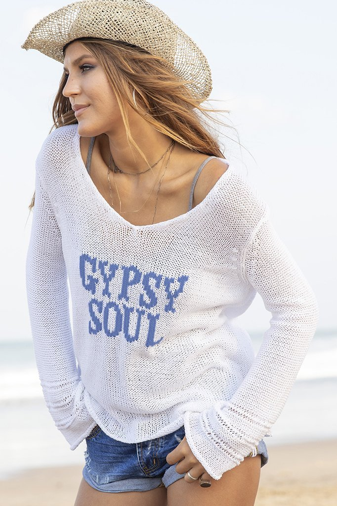Women's Gypsy Soul Raglan Cotton Sweater's | Wooden Ships Knits