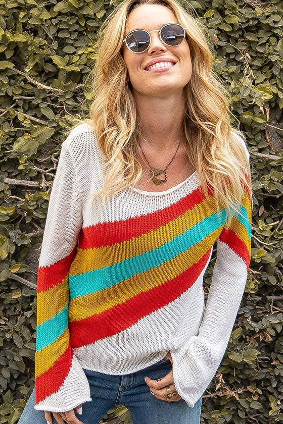 Women's Kaleidescope Crew Cotton Sweater's | Wooden Ships Knits