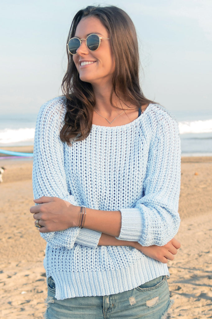Women's Mackenzie Raglan Cotton Sweater's | Wooden Ships Knits
