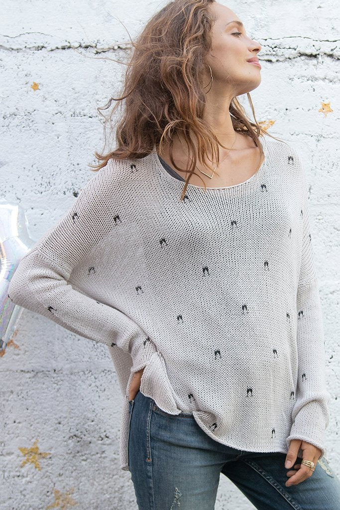 Women's Mini Champagne Crew Cotton Sweater's | Wooden Ships Knits