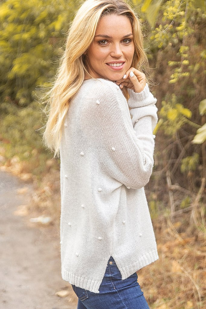 Women's Mini Popcorn V Lightweight  Sweater's | Wooden Ships Knits