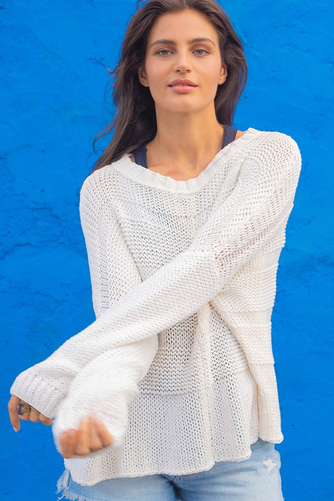 Women's Morgan Crew Cotton Sweater's | Wooden Ships Knits