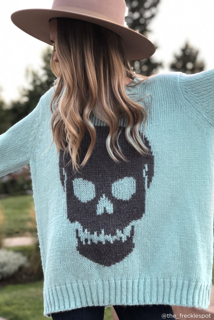 Women's Big Skull Crewneck Sweater's | Wooden Ships Knits
