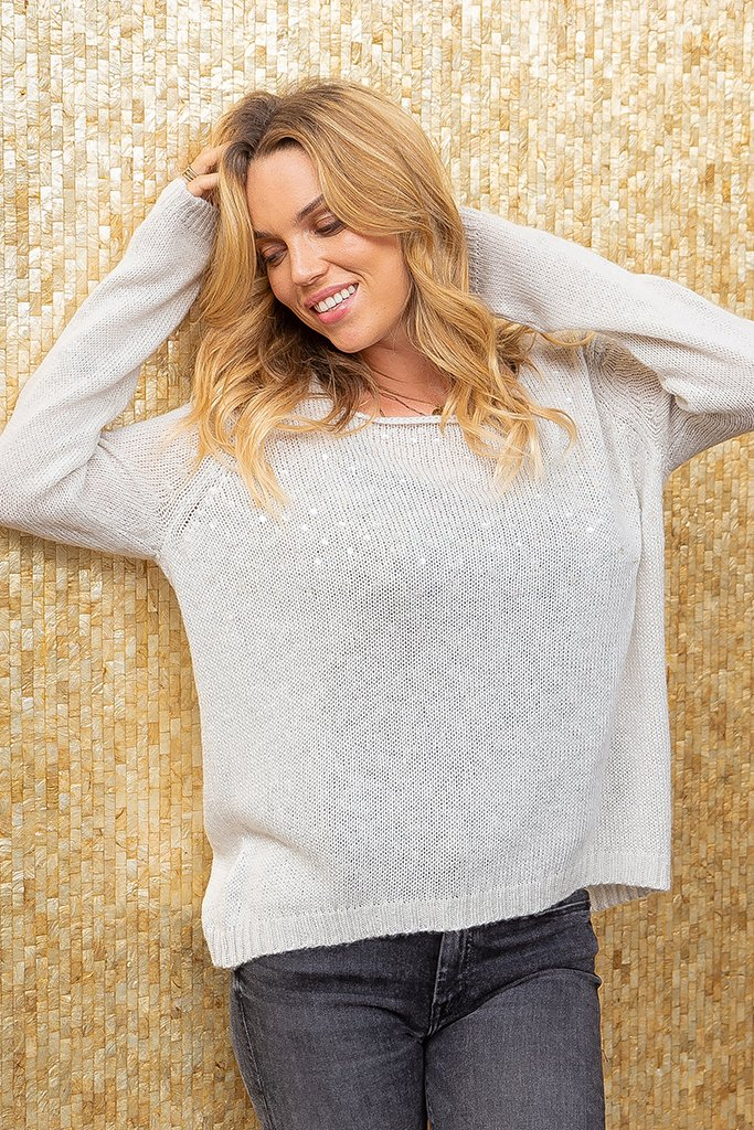 Women's Sequins Top Lightweight  Sweater's | Wooden Ships Knits