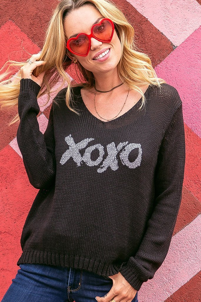 Women's Xoxo V Cotton Sweater's | Wooden Ships Knits