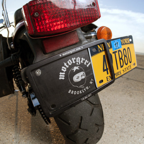 Motorcycle USA License Plate Holder - MotorGrrl