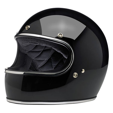 Biltwell Gringo Full Face Helmet - Gloss Black