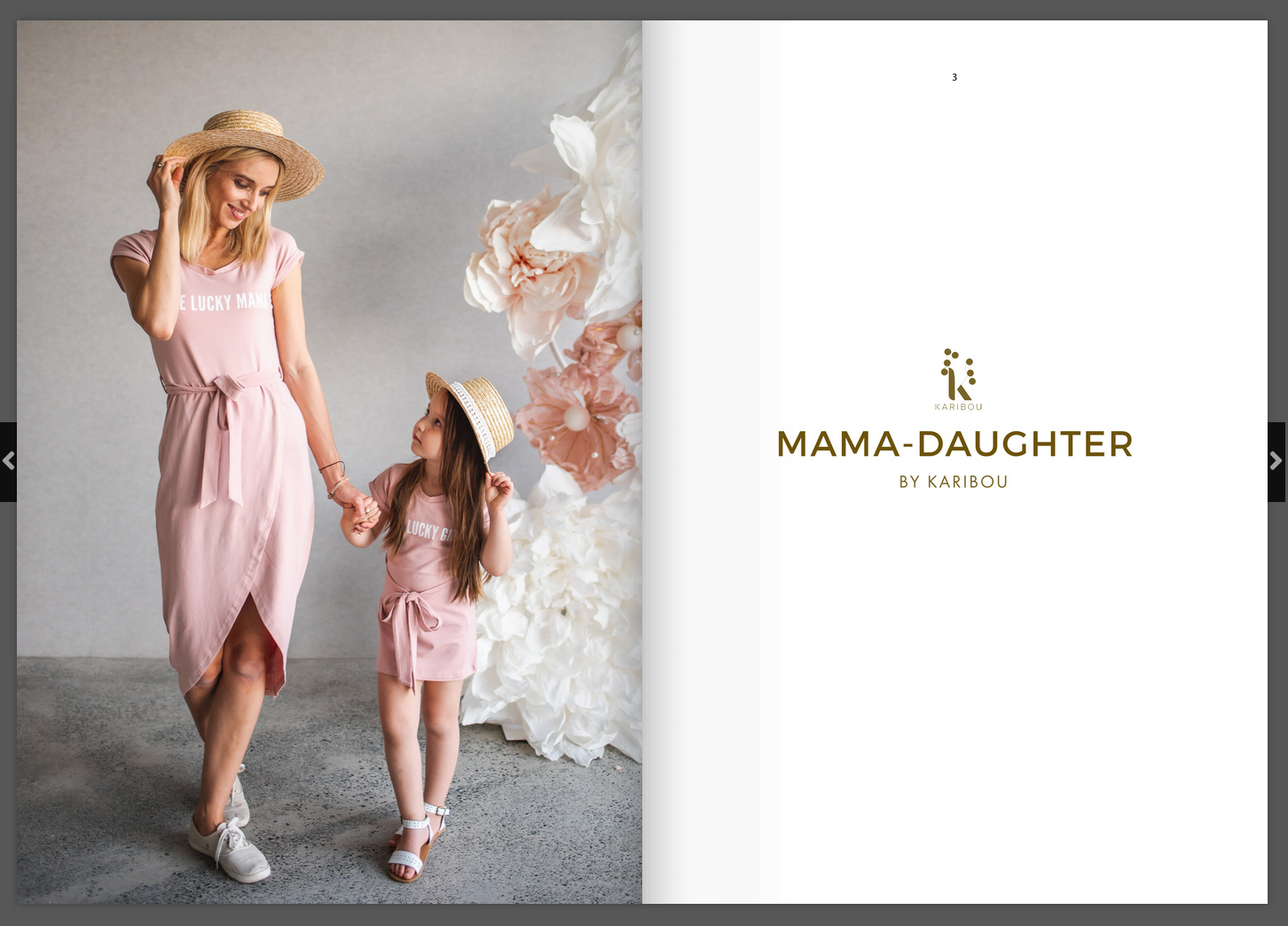 Mama Daughter range lookbook by Karibou