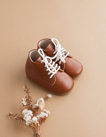 Kids Leather Unisex KariBoots - Hazelnut