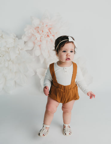 Mischa Cotton Suspender Bloomers - Acorn