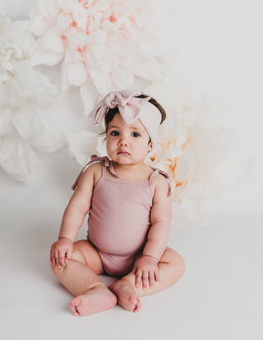 Sienna Cotton Sunsuit in Blush