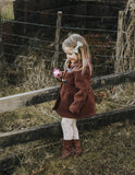 Madison Girls Wool Blend Coat - Cocoa