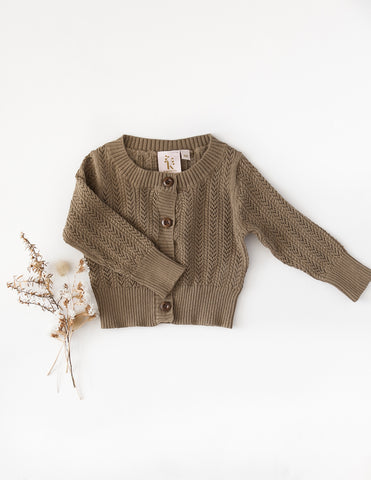 Penny Light Cotton Knit Cardigan - Pistachio