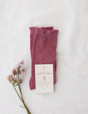 Picnic Knee-High Socks - Garden Rose