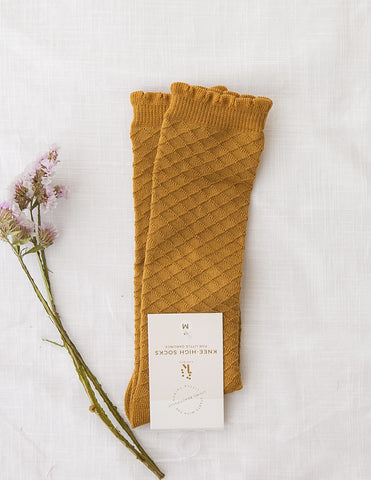 Picnic Knee-High Socks - Golden