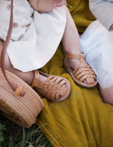 Aella Genuine Leather Sandals - Earth