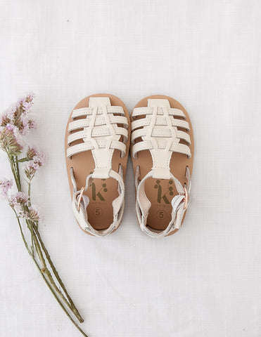 Aella Genuine Leather Sandals - Natural