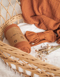 Organic Cotton Muslin Baby Swaddle - Burnt Orange
