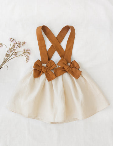 Coco Linen Suspender Skirt - Linen Edition