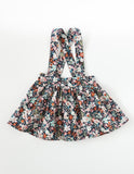 Coco Cotton Suspender Skirt - Midnight Floral