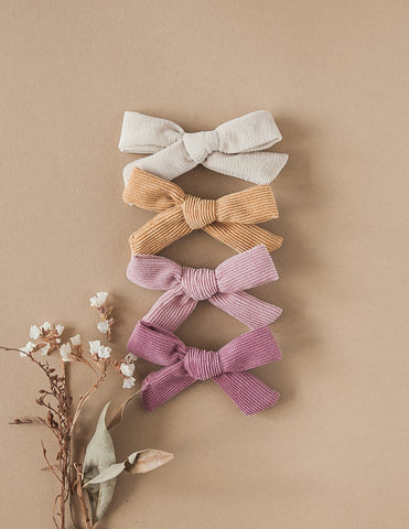 Mummy's Girl Large Corduroy Bow Hair Clip