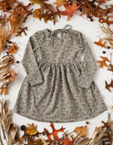 Cotton Puff Long Sleeve Pocket Dress - Sage