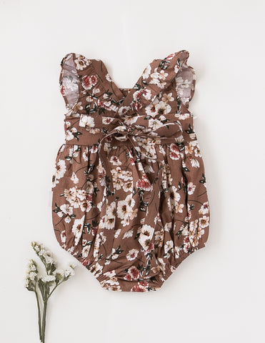 Karolina Ruffled Cotton Playsuit - Flower Bomb